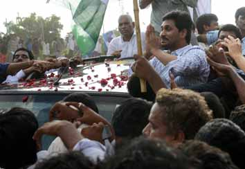 Jagan receives a hero's welcome