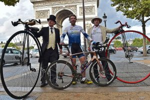 Cyclist Beaumont's record-breaking journey around the globe