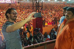 Pics: Aamir Khan celebrates Navratri in Baroda along with 'Secret Superstar' team
