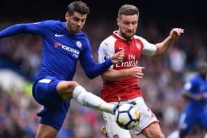 Premier League: David Luiz sent off as Chelsea hold Arsenal