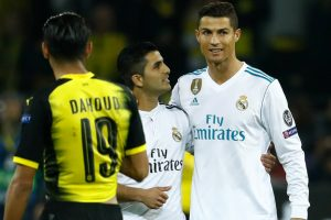 Cristiano Ronaldo hugs pitch-invading fan after Borussia Dortmund game