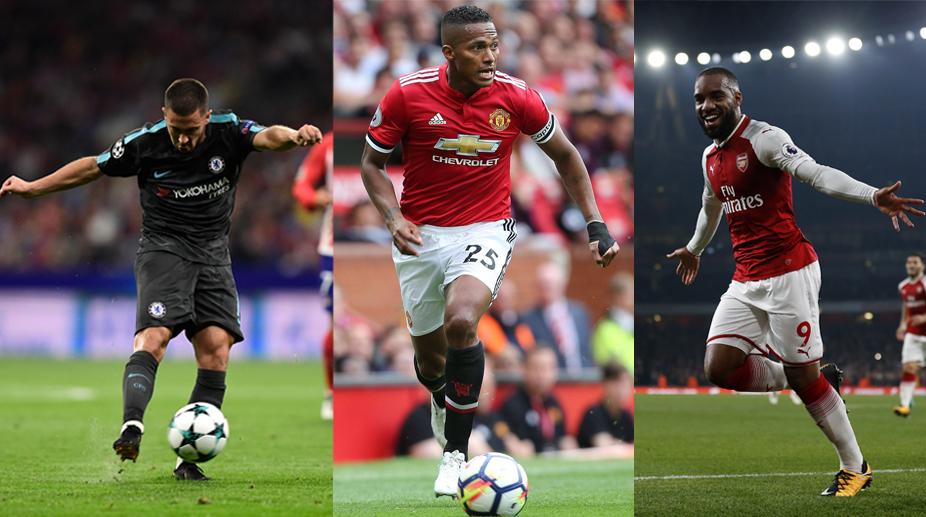 Premier League, Fantasy Premier League, FPL, Manchester United FC, Chelsea FC, Arsenal FC, Alexandre Lacazette, Eden Hazard, Antonio Valencia