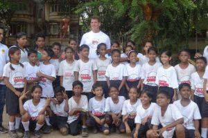 WWE wrestler JBL surprises his little fans in India