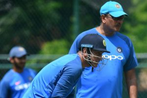 Dhoni is not even half finished yet, says coach Shastri