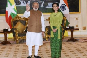 Modi gifts Suu Kyi her IIAS fellowship proposal copy