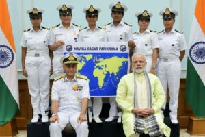 PM Modi wishes well to Navy's all-woman globe circumnavigation team