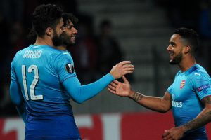 Europa League: Olivier Giroud reaches century, Everton held at home