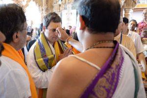 With prayers at Dwarkadheesh, Rahul begins Gujarat roadshow