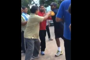 Video: Cricketer Ambati Rayudu gets into ugly duel with senior citizen