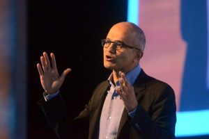Satya Nadella interacts with Microsoft employees in Hyderabad during 2-day India visit