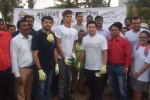 Tendulkar, Thackeray juniors' clean-up drive leaves Modi impressed