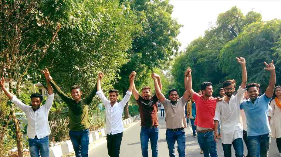 dusu, ABVP, students, elections, Protest
