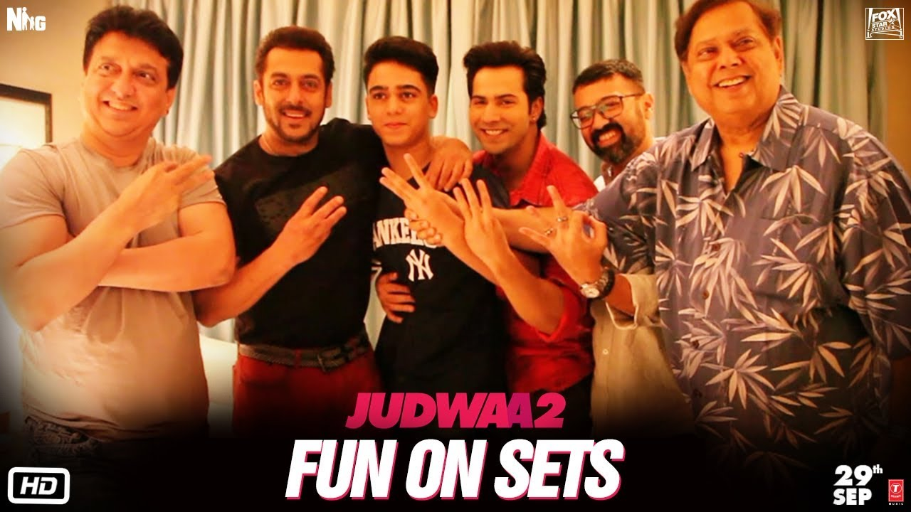 Fun On Sets of Judwaa 2 with Varun, Jacqueline, Taapsee and David Dhawan