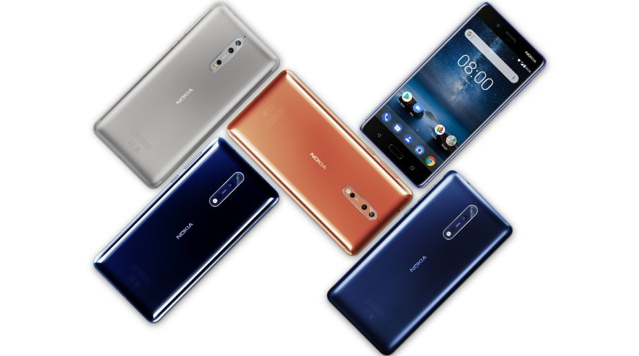 Nokia 8 premium flagship with dual-rear camera, Snapdragon 835 launched at Rs. 36,999