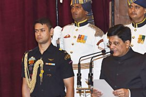Three ministers took oath in English, 10 in Hindi