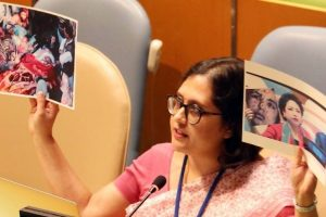 India hits out at Pakistan for using fake photo at UN, shows image of own terror victim