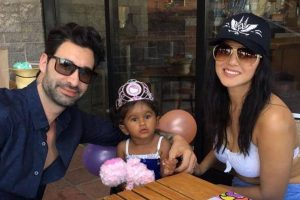 Sunny Leone surprised daughter on her second birthday