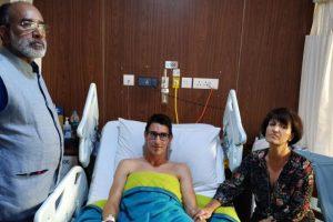 Alphons offers hospitality to Swiss couple at Ashoka Hotel