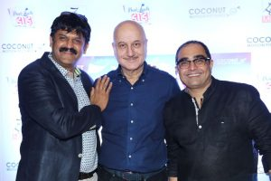 Anupam kher, Javed Jaffrey attend the premier of 'Best of Luck Laalu'