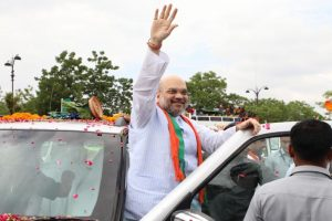 Amit Shah flags off BJP rally in poll-bound Karnataka