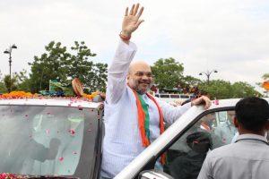 Shah sounds poll bugle in Gujarat, launches 'Gaurav Yatra'
