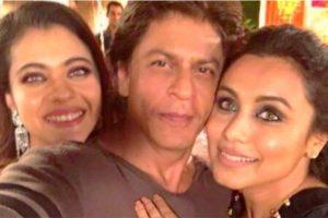 SRK, Kajol, Rani Mukerji's selfie moment