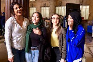 'Hero' Priyanka Chopra meets fans on 'Quantico' set