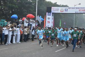 West Bengal: BSF organises half marathon in memory of killed troopers