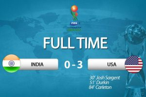 FIFA U-17 World Cup: India lose 0-3 to dominant US in opener