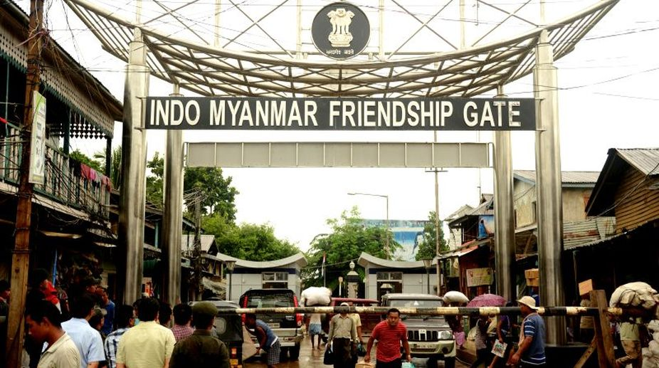 India-Myanmar border, major fire, Manipur, international gate