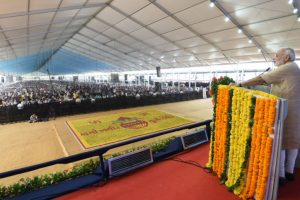 PM Modi lays foundation stone of Bhadbhut Barrage over Narmada