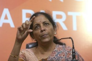 Are those observing black day in favour of corruption: Sitharaman