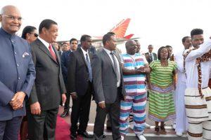 President Ram Nath Kovind arrives in Ethiopia