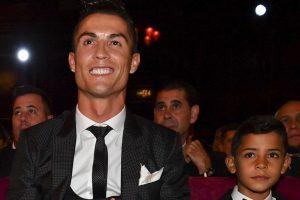 Photos: Cristiano Ronaldo Jr steals show as daddy clinches FIFA award