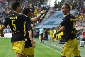 Dortmund remain atop the standing in German Bundesliga