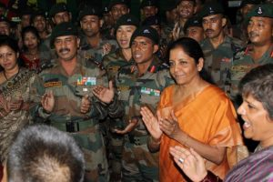 Nirmala Sitharaman celebrates Diwali with Andaman & Nicobar command