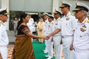Sitharaman compliments Indian Navy for securing nation
