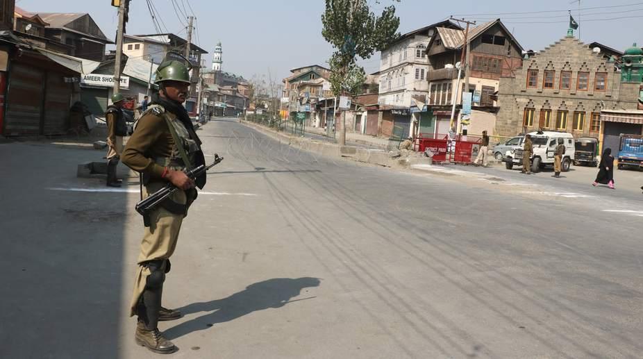 Restrictions, Srinagar, separatist rally