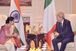 Sushma calls on Italian PM, discusses issues of mutual interest