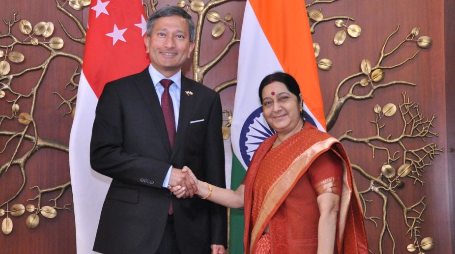 India, Singapore, Act East Policy, External Affairs Minister, Sushma Swaraj, Joint Ministerial Committee, Vivian Balakrishnan