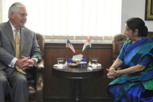 Sushma Swaraj meets US Secretary of State Rex Tillerson