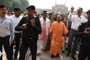 UP CM Yogi Adityanath visits Krishna Janmabhoomi