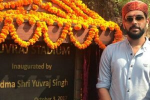 Yuvraj Singh inaugurates stadium, cancer awareness centre in HP
