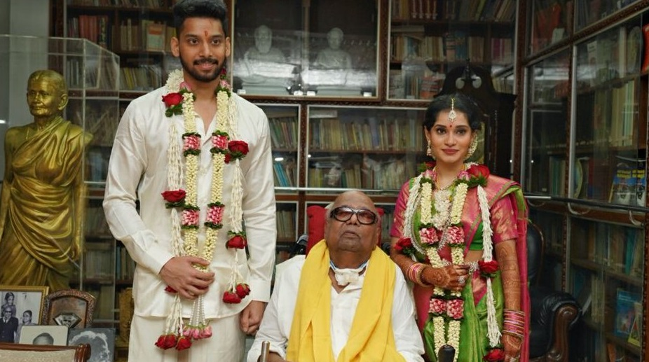 PICS: Vikram's daughter marries M. Karunanidhi's great grandson