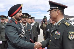 Army personnel of India, China hold meeting at Bum La Pass