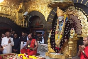 Kovind inaugurates centenary year celebrations of Saibaba samadhi