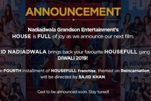 Sajid Nadiadwala announces Housefull 4's release date
