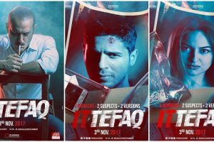 Sonakshi, Sidharth look intriguing on the poster of 'Ittefaq'