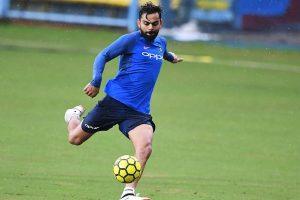 Virat Kohli seeks football fans' support as All Heart FC face All Stars FC