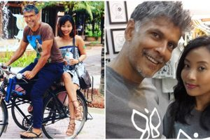 Milind Soman attends AIFW with girlfriend